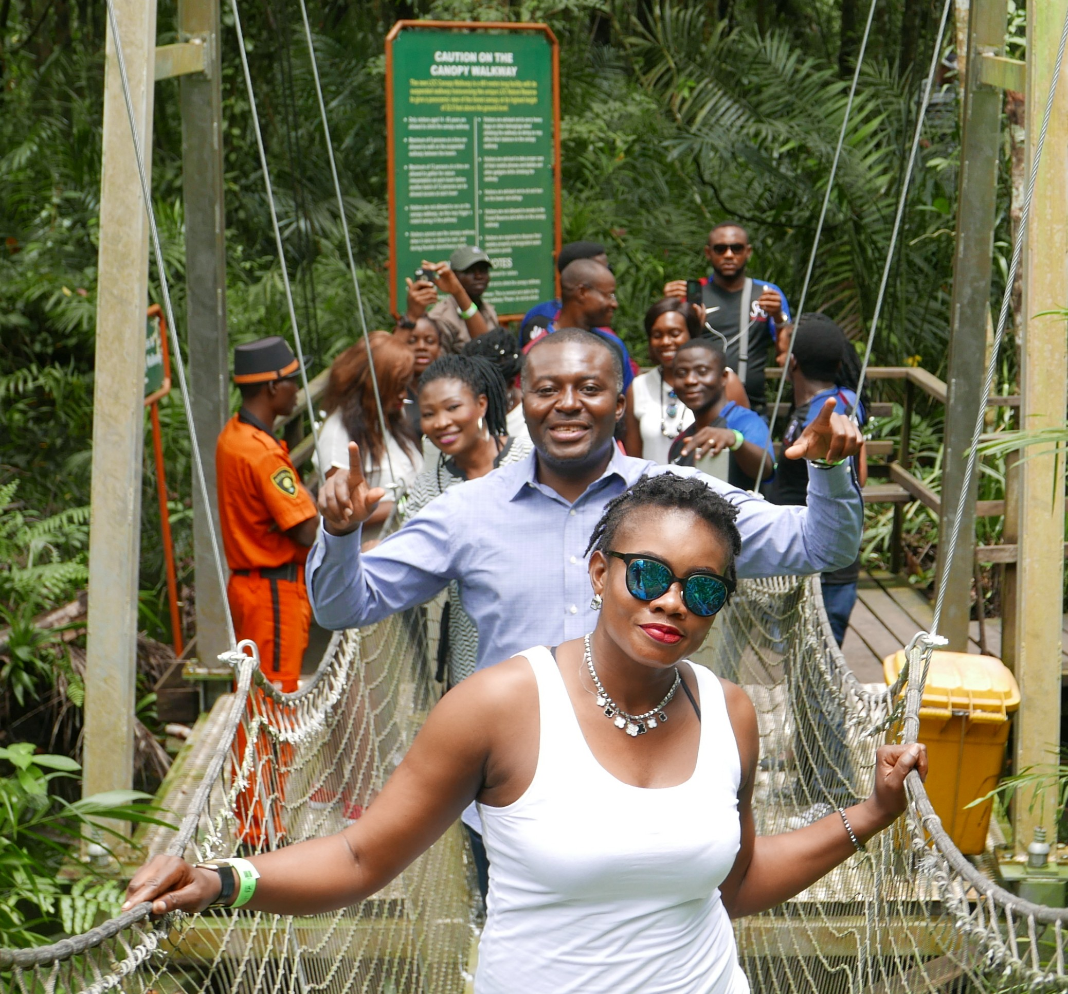 At the Lekki conservation centre with the crew